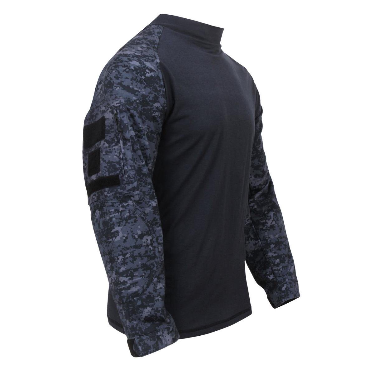 Rothco Military FR NYCO Combat Shirt - Midnite Digital Camo B01M99FA03