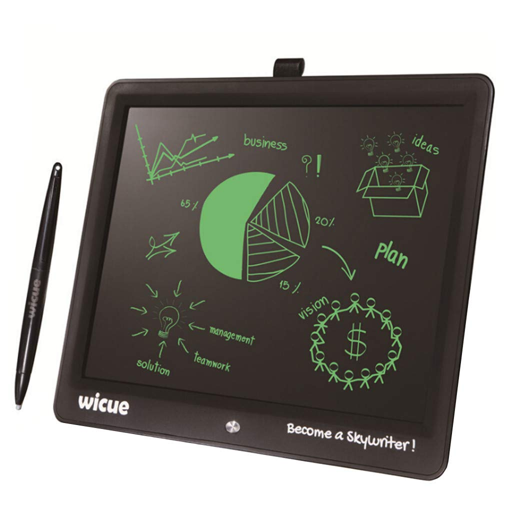 Sonmer Wicue 15'' Mini Color LCD E-Writing Drawing Doodle Tablet for Student Kids,With Stylus Pen (Pink)