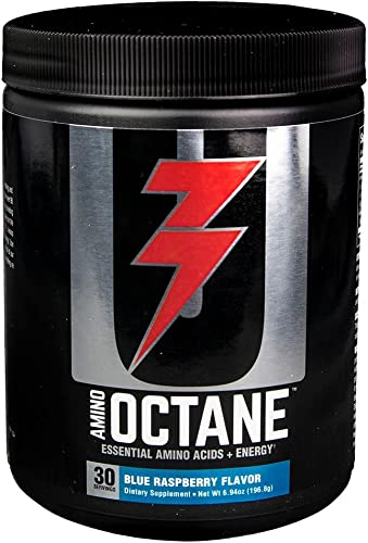 Universal Nutrition Amino Octane Essential Amino Acids Energy, Blue Raspberry, 30 Count