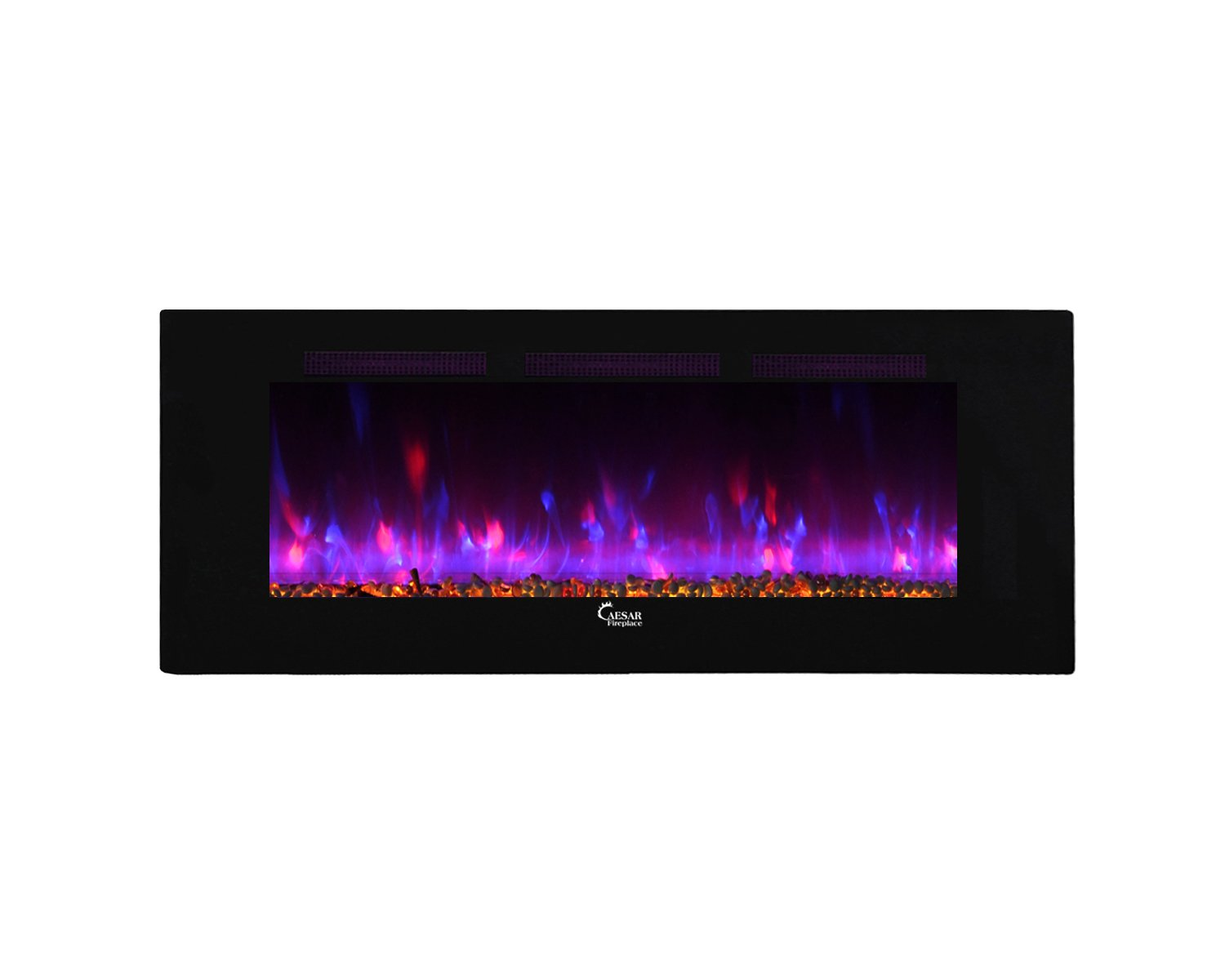Caesar Fireplace Caesar Luxury Linear Wall Mount Recess Backlight Freestanding Multicolor Flame Electric Fireplace, 60-inch