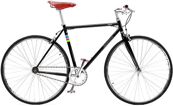 Bibóo Bikes Gekko Vintage Bicicleta Fixie, Unisex Adult, Negro, L: Amazon.es: Deportes y aire libre
