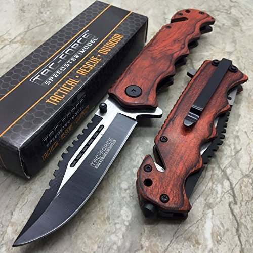 Tac Force G'Store Vintage Wooden Handle Pocket Hunting Tactical hunting Handy Knife (Hunting Pocket)