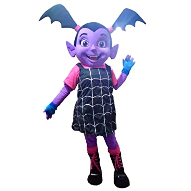 Amazon Com Vampirina Vee Mascot Costume Party Character Purple Girl