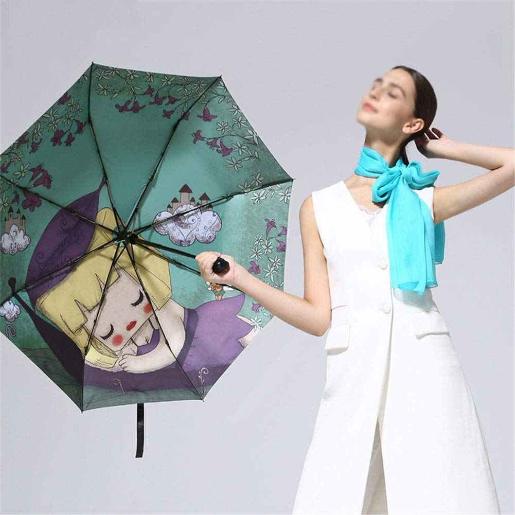 Windproof Automatic Open Close Umbrellas Compact Folding Sun Umbrellas Sunscreen Anti-UV Umbrella,Blue ZWYY Travel Umbrella
