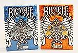 12 Deck Set of Bicycle Pluma Playing Cards Deck Blue & Orange