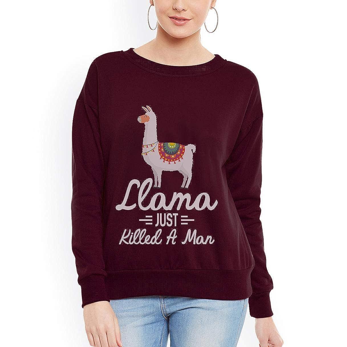 Doryti Llama Just Killed a Man Llama Cooler Women Sweatshirt tee
