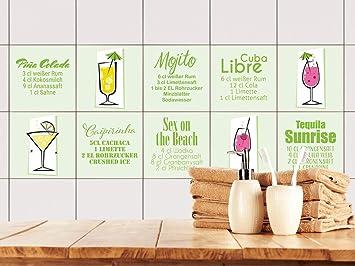 Grazdesign 770506 15x15 Fs20st Fliesenaufkleber Grun Cocktail
