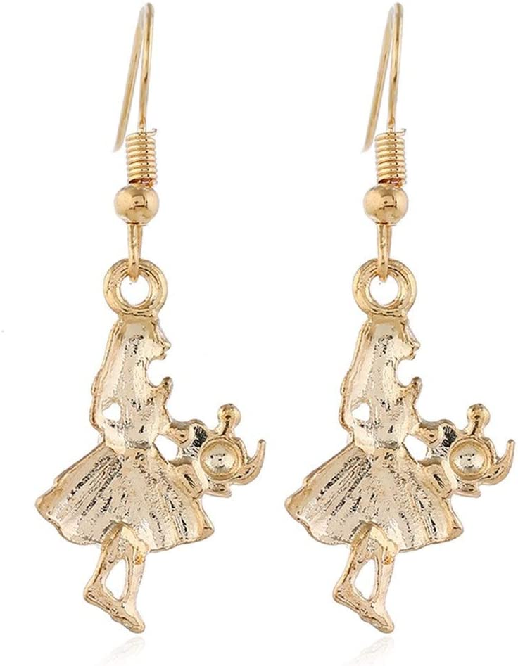 Hardworking bee Abeille assidue Bijoux de Mode europ/éens et am/éricains Populaire Collier de Boucles doreilles Fille Petite f/ête