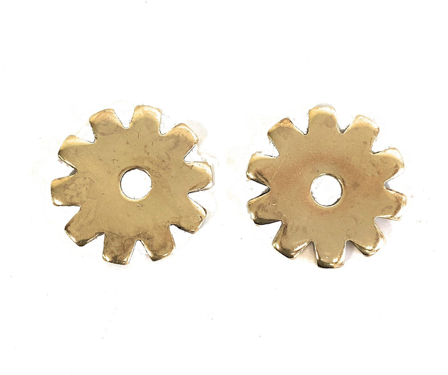 AJ Tack Wholesale Brass Spur Rowels 10 Point 1 1/16 Inch Sold in Pair Cowboy Boots Accessories