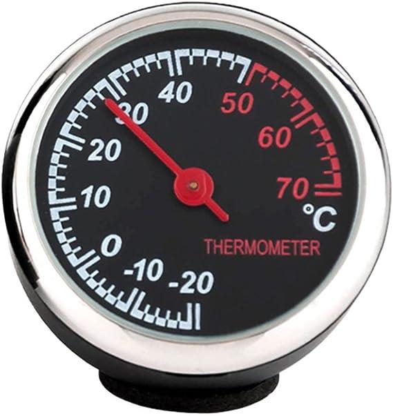 Winomo Auto Thermometer Stahl Klein Mit Zeiger Für Den Kfz Innenraum Schwarz Auto