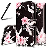 Galaxy S7 Stand Case,Samsung Galaxy S7 Wallet Case,Galaxy S7 Flip Case,SKYMARS Samsung Galaxy S7 Cover Marble Creative Design PU Leather Flip Kickstand Cards Slot Wallet Magnet Stand Case for Samsung Galaxy S7 Pink Flower