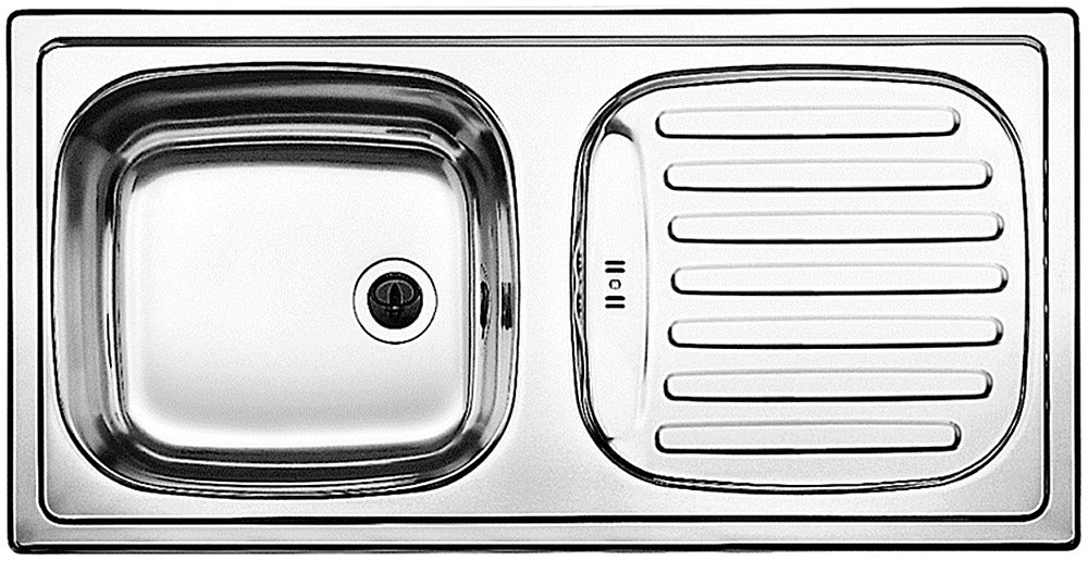 Acero inoxidable, 1 senos, 370 x 340 mm, 15 cm, 860 mm, 435 mm Fregadero BLANCO Flex