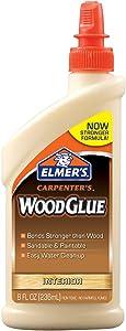 Elmer's E7010 Carpenter's Wood Glue, Interior, 8 Ounces
