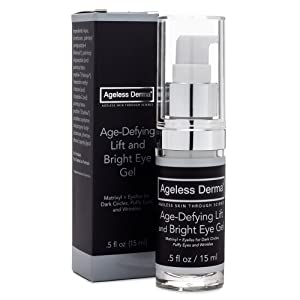 Ageless Derma Under Eye Cream for Dark Circles and Puffiness by Dr. Mostamand is an Anti aging Eye Gel that Reduces the Appearance of Bags, Wrinkles and Dark Circle