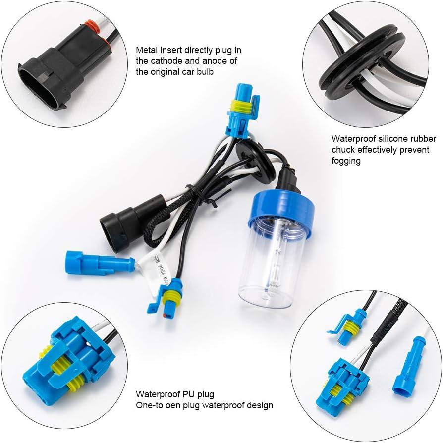HYB H7 6000K HID Blub Xenon Headlight Replacement Bulbs Pack of 2