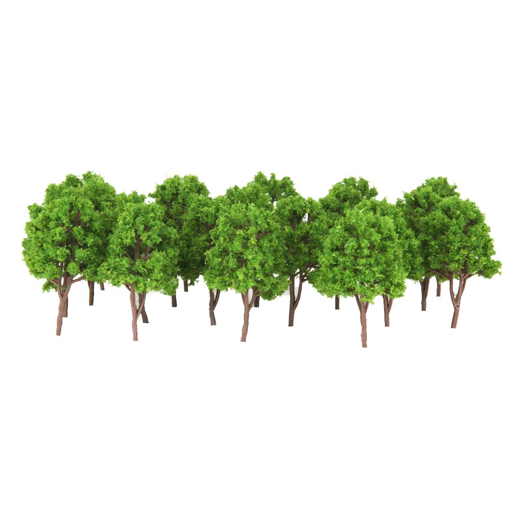 20pcs Plastic Model Trees N Scale Train Layout Wargame Scenery Diorama 7.5cm