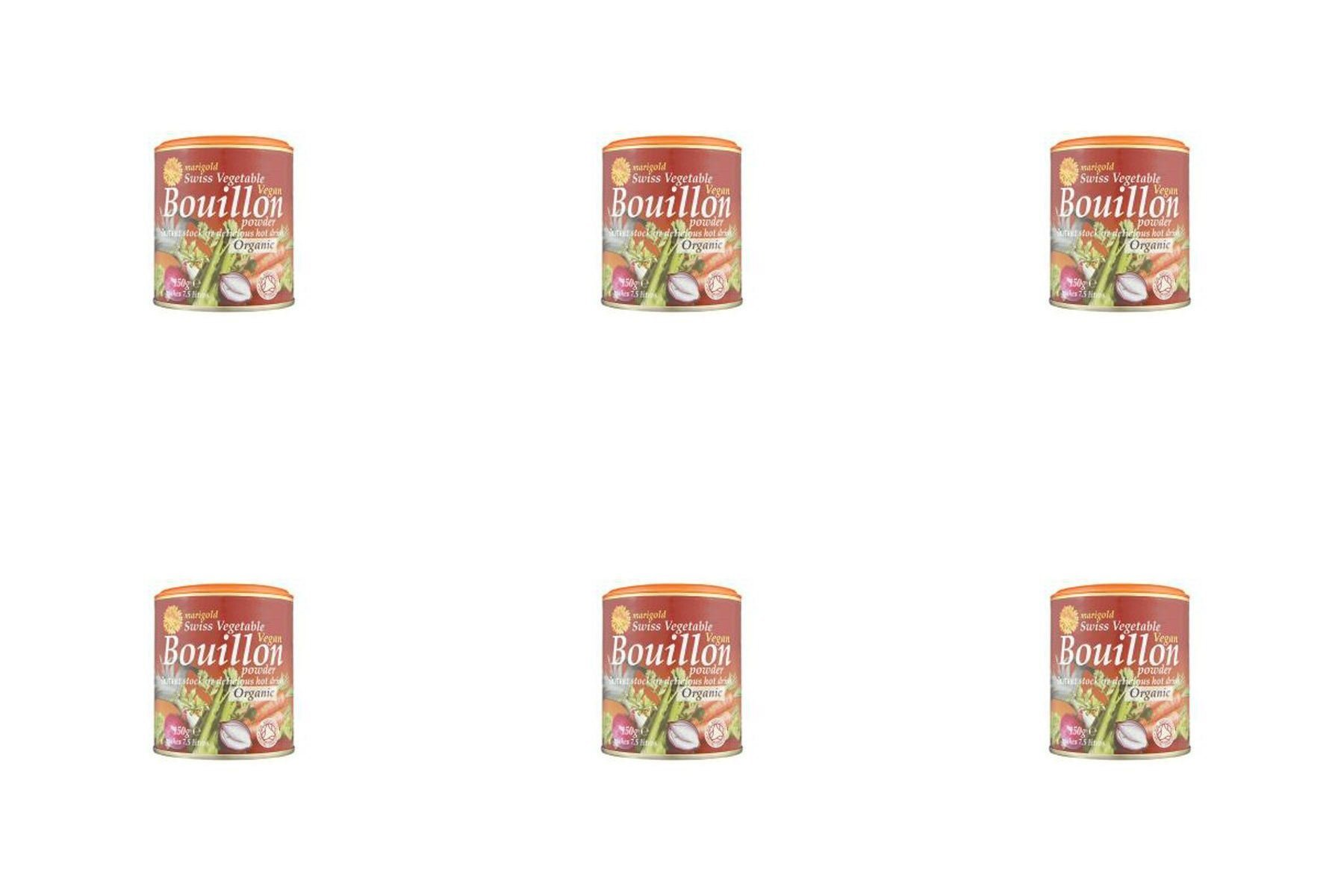 (6 PACK) - Marigold Swiss Vegetable Bouillon - Organic & Vegan| 150 g |6 PACK - SUPER SAVER - SAVE MONEY