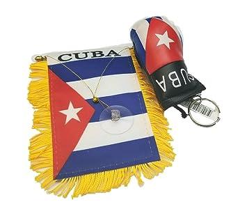 2pc Cuba bandera, bandera Cubana Mini Banner w/cubano de ...