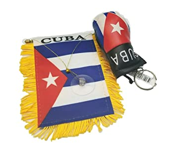 Amazon.com : BUNFIREs 2pc Cuba flag, Cuban flag mini banner ...