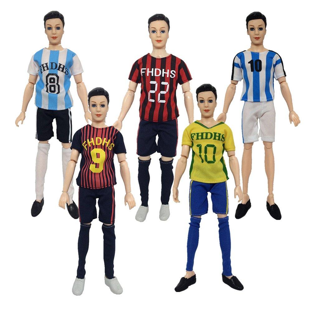 Zantec World Cup masculino futbolista muñecas ropa accesorios de la muñeca calcetines deportivos + pantalones + camisa para Ken Doll: Amazon.es: Juguetes y ...