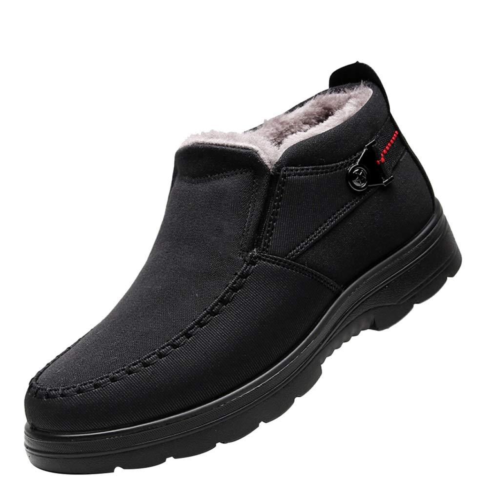 WWJDXZ Alte Peking-Schuhe Baumwollschuhe Alter Männer um zu helfen warme Dad Schuhe mittleren Alters Plus samtige Rutschfeste Baumwollstiefel zu verdicken