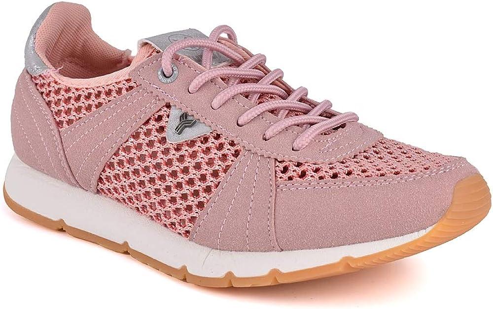 Zapatilla Sneaker Yumas SIBILA Rosa Fabricado en Microfibra y Nylon Plantilla Confort Látex para Mujer