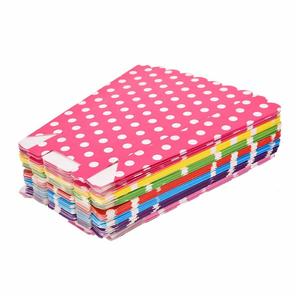 GOOTRADES 42 Pack Colorful Mini Dot Pattern Popcorn Boxes Candy Container, Birthday Party Favors