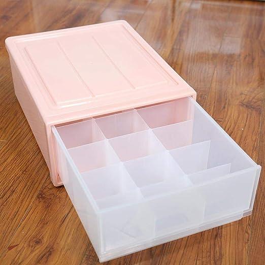 Axiba Cajas de almacenaje Cajón Tipo Ropa Interior Almacenamiento Caja plástico Acabado Caja Bra Ropa Interior Calcetines Caja Almacenamiento de información 32 * 25 * 12.5cm: Amazon.es: Hogar