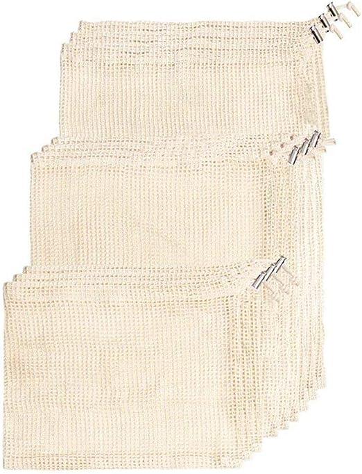 Xigeapg Bolsas de Productos Reutilizables, Material de algodón ...