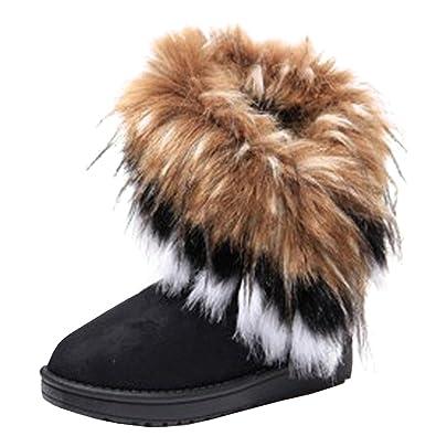 amazon com s winter warm ankle boots knit shoes