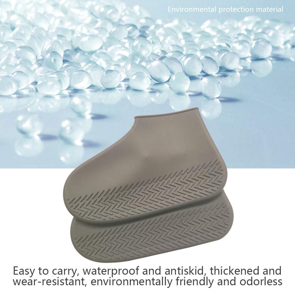 SENDILI Cubre Zapatos Impermeable Cubierta de Zapatos a Prueba de Agua Cubierta de Zapatos de Silicona al Aire Libre Lluvia Nieve Mujeres Hombres Botas Cubiertas