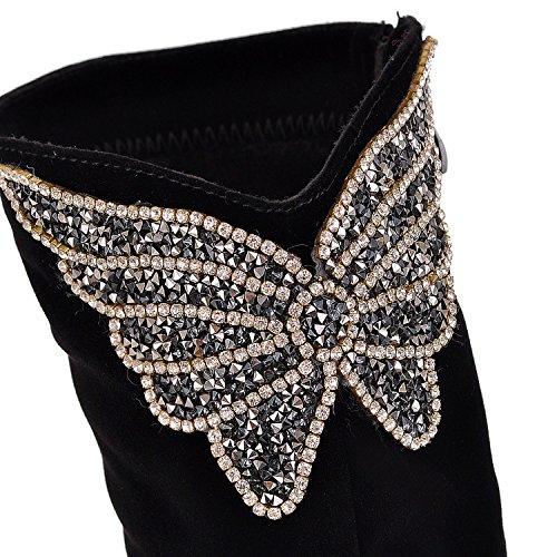 alto Winter For Stivali The Khskx Frozen Scarpe Shoes Ladies Women Fall Black col donna Cannon Long tacco And da zqtZw1q