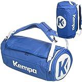 Kempa Sporttasche mit Rucksack-Funktion inklusive Ballnetz schwarz/blau 54 x 28 x 28 cm, 40 L