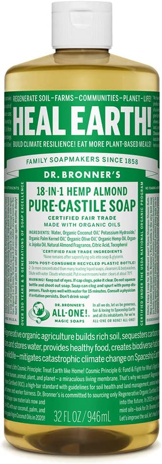 Dr. Bronner's Pure-Castile Liquid Soap Made with Organic Oils
