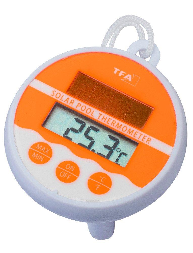TFA Dostmann 30.1041 Termometro da piscina digitale/solare [Importato da Germania] 30-1041