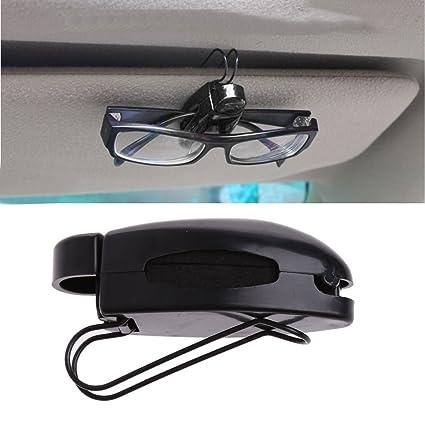 haosshop Auto coche Tarjeta de lectura gafas de sol soporte ...