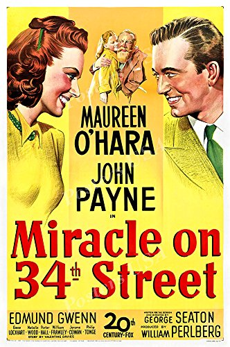 Posters USA Miracle on 34th Street Original Movie Poster GLOSSY FINISH - FIL719 (24