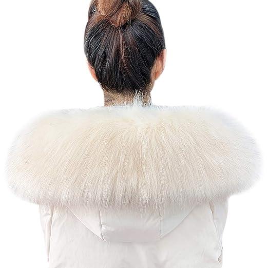 TININNA Mujer Cuello Bufanda de Piel de Zorro Sintética para ...
