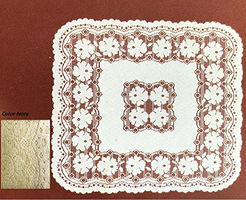 Lace Tablerunner Made in Poland (36''x36'', Ivory) (36' Runner Lace)