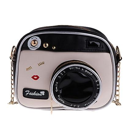 a5cc857bd8 JAGENIE donne moda a forma di macchina fotografica piccola borsa a tracolla  messenger borsa: Amazon