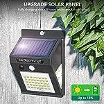 Karrong Solar Wall Light Outdoor 50 Led Super Bright Security Light Motion Sensor for 3 Modes Garden (4 Pack)