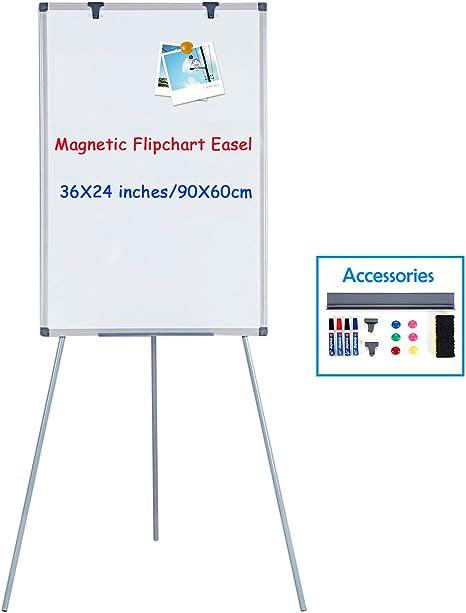 MAKELLO Pizarra blanca magnética con soporte #3 900X600mm: Amazon ...