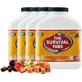 Survival Tabs 60-Day 720 Tabs Emergency Food Ration Survival MREs Food Replacement for Outdoor Activities Disaster…