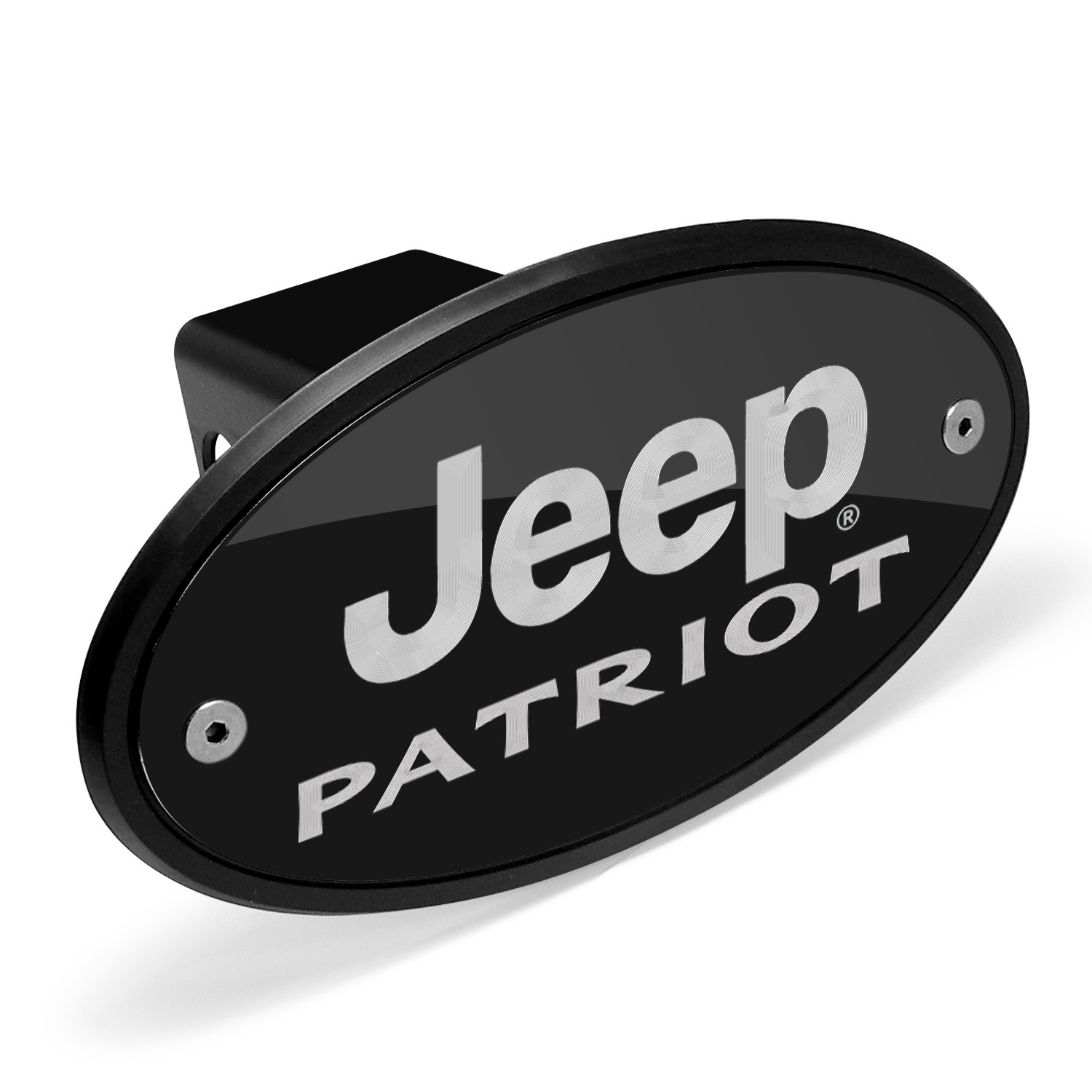 Jeep Patriot Black Metal Plate 2 inch Tow Hitch Cover Universal Brass