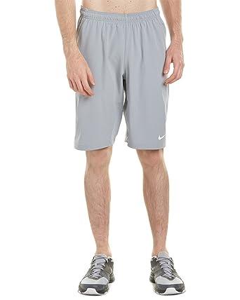 NIKE Men s N.E.T 11   Woven Tennis Shorts (Stadium Grey White 339864929e4d