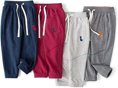 PAUBOLI Pantalones de chándal de algodón Suave niños de 2 a 8 años: Amazon.es: Ropa y accesorios
