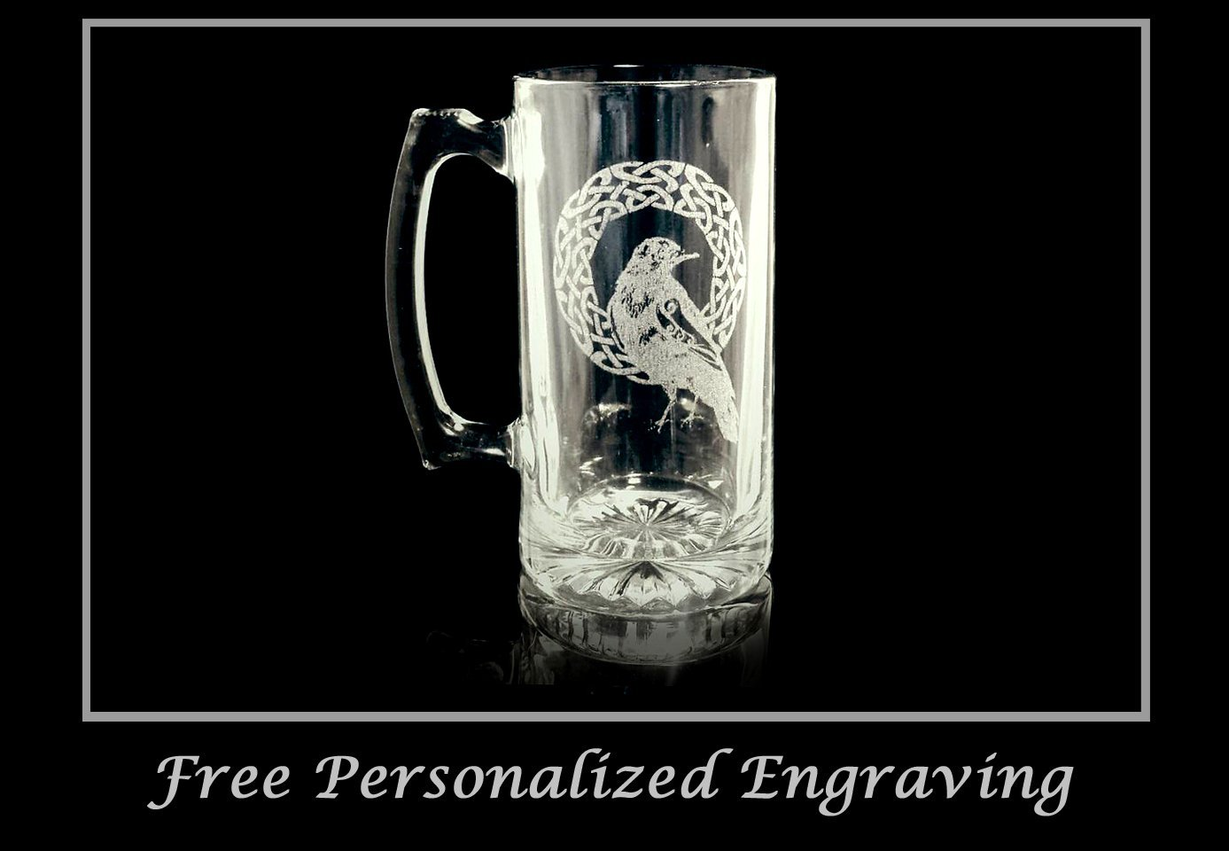Celtic Raven 27oz Stein