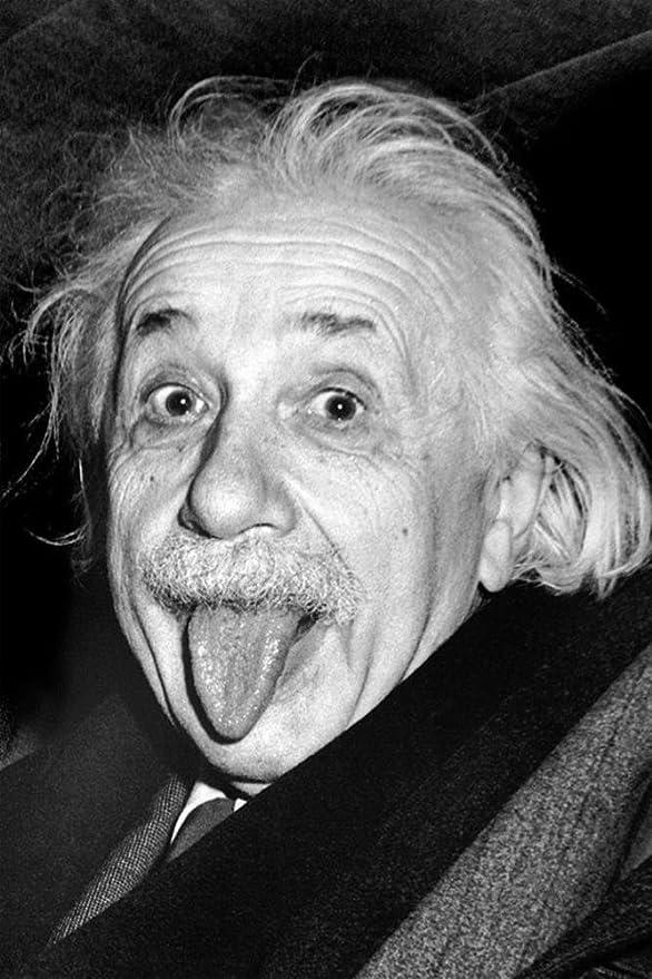 "ALBERT EINSTEIN A4 GLOSS POSTER PRINT LAMINATED 10.9/""x8.3/"""