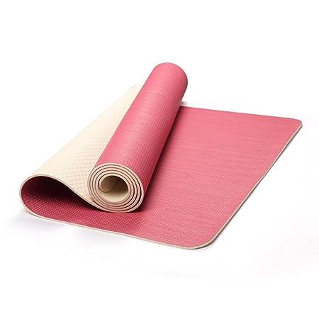 MxZas Hombres y Mujeres. Estera de Yoga Sbr4.5mm Rosa ...
