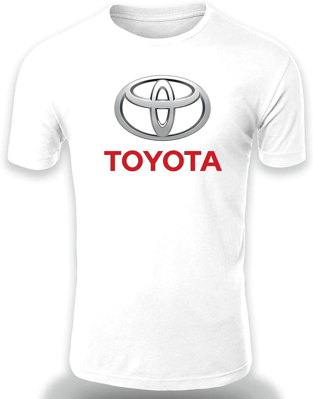 Toyota Logo Camiseta Hombre Coche Clipart Car Auto tee Top Negro Blanco Mangas Cortas Presente
